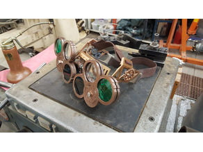 Steampunk style shop goggles