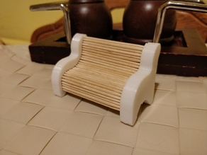 Toothpick bench holder and dispenser