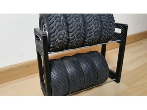 RC 1/8 and 1/10 tire rack