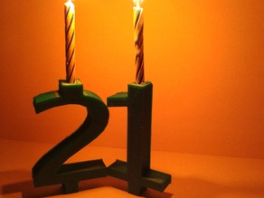 Basic Number Candle - Birthday Candle