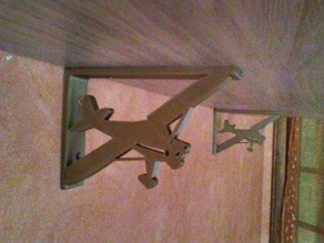 Support étagère Avion renforcé / Stronger airplane shelf bracket