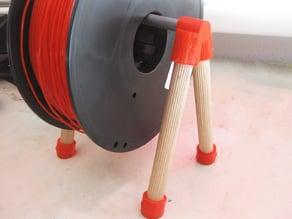 Universal filament spool holder on sticks