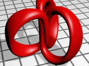 3 rings (Trefoil knot)