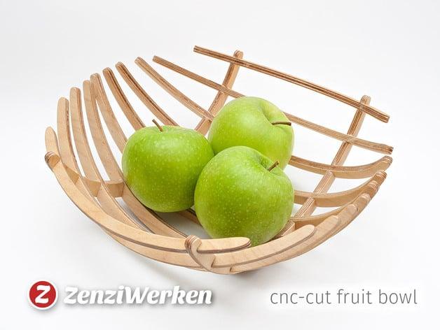 Fruit Bowl Quot Sphere Quot Cnc Laser By Zenziwerken Thingiverse