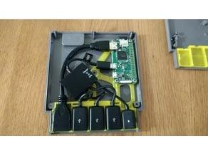 NES cartridge RetroPi Zero case holder