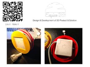 Power cord wrap for mac book - enrouleur de cable pour chargeur Mac - cable holder for charger mac