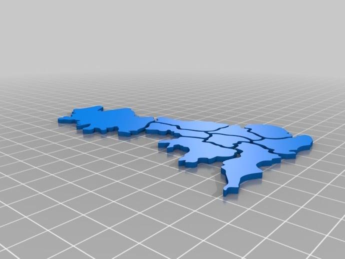 Map Of Uk Jigsaw.Jigsaw Uk Map By Indusmaker Thingiverse