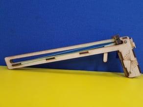 Paper airplane launcher (gun)