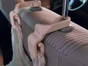 Car seatback trash bag hooks, longer