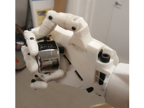 InMoov robot Arm modified to click a Tally Counter