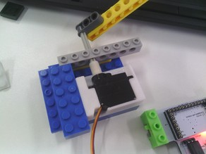 es80a servo mount for lego technic
