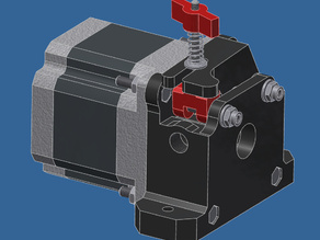 Nema23 Bowden Extruder Cold End (1.75mm)