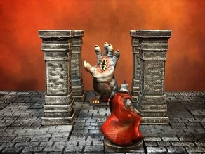 ScatterBlocks: Tall Stone Pillar (28mm/32mm scale)