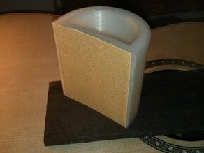 Guitar fretboard radius sanding block