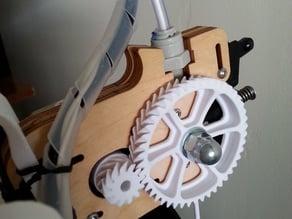 Herringbone Gears for Ultimaker Original Feeder