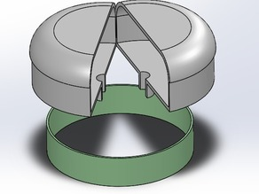 Protection Dome Cover for 5.8 GHz Cloverleaf Antennas with retaining ring