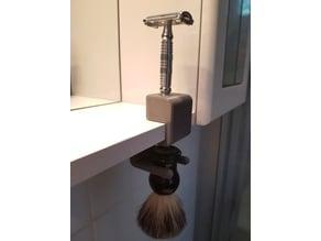 Holder for Razor and Shaving Brush