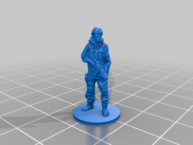 Gas mask soldier on stand by steyrc - Thingiverse