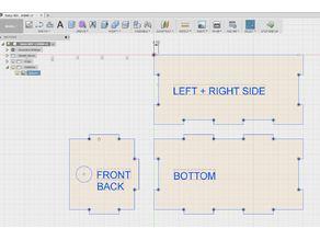 Bakje 4MM MDF CNC DXF