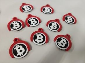 Bitcoin Shopping Cart Token with Holder (1 Euro)