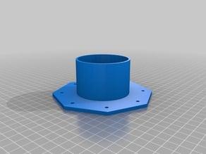custom flange to wall adaptor