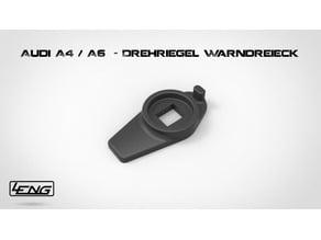 Audi A4 / A6 - Drehriegel Warndreieck