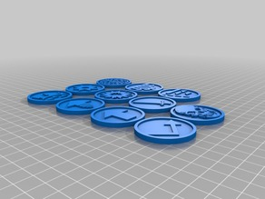 Warhammer 40k Action Tokens
