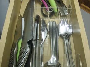 Laser cut cutlery tray