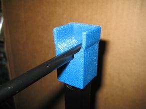 "Rigidbot spool holder cap- fits 8mm rod or 1/2"" pvc"