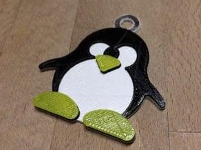 Porte-clés Tux Linux - Tux Linux keychain