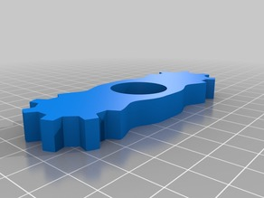 Gear fidget spinner (1 bearing)