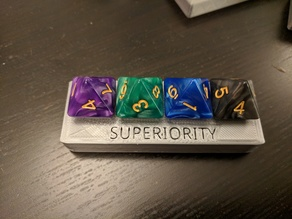 D&D/DnD/Dungeons and Dragons Fighter Superiority Dice Tracker / Holder