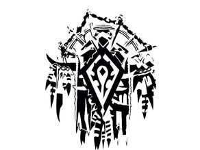 For The Horde stencil logo