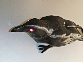 Halloween Crow with illuminated eyes