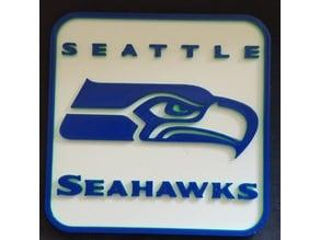 """Seattle Seahawks Logo 4"""" x 4"""" Coaster / Plackard"""