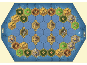 Catan seafarers cloth token 5-6 players