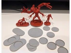 Magnetic Mini Bases for Resident Evil 2 (20mm, 40mm, 80mm)