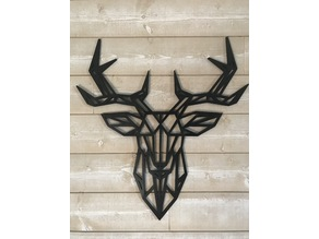 XXL Geometric Deer Wall Sculture