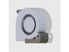 Radial fan (5015) mount for dbot and cooling duct