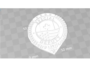 Wynonna Earp Black Badge Division Special Deputy Badge