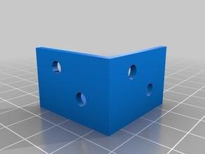External corner bracket with screw holes