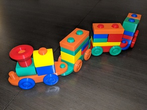 Stacking Block Toy Train (Mk3)