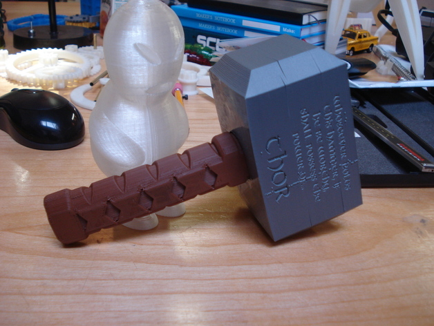 thor s hammer by skimbal thingiverse