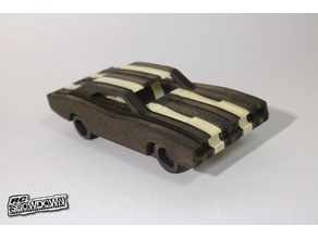 1970 Dodge Charger simplified CNC / Laser model