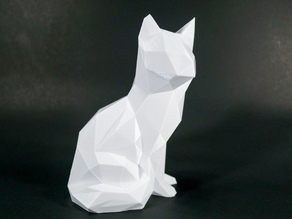Low Poly Sitting Cat!