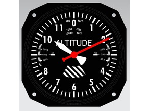 Altimeter Clock Face