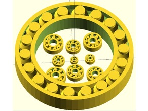 Parametric printed bearing openscad