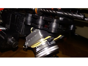 SONY A5000 DSLR camera mount for tarot 680 drone angled 45°