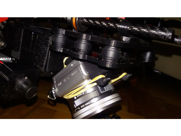 SONY A5000 DSLR camera mount for tarot 680 drone angled 45
