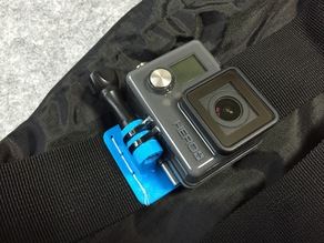 The connector of GoPro on a bag